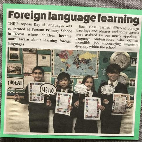 Day of Languages Newspaper Article