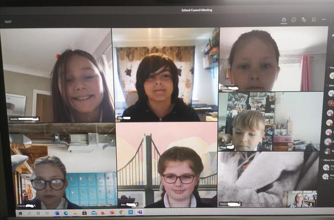 The School Council's First Meeting of 2021 conducted via Zoom!