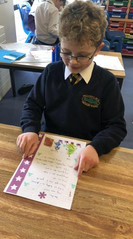 Year 4 receiving French Letter