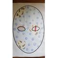 Mayan mask design