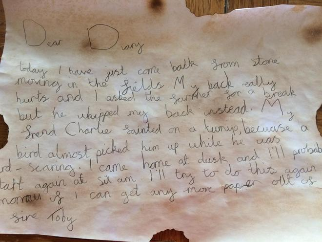 Toby's Diary as a Victorian child farm labourer