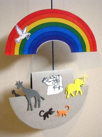 Paper plate mobile