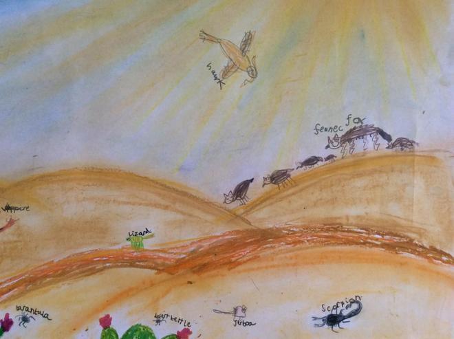 Lola's desert animal poster