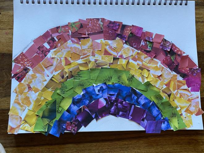 Fruit inspired rainbow!
