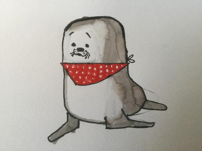 And I am Wilbur, Will's cute and cuddly seal