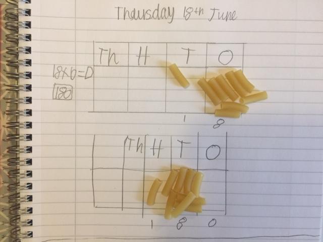 Herbie's macaroni maths! Yum!