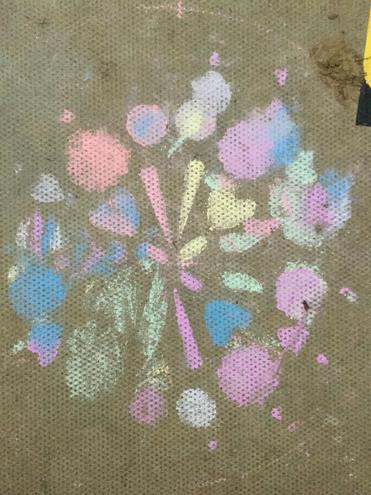 We have been drawing Rangoli patterns in the conservatory.