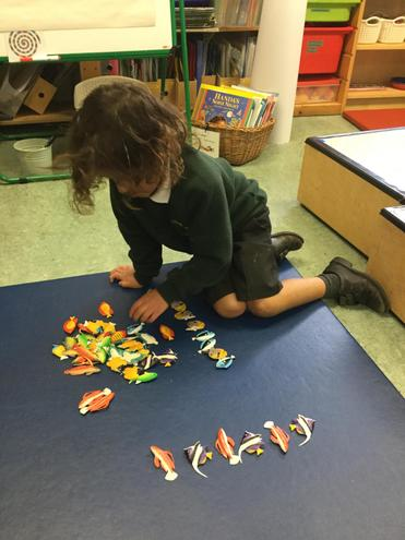 I have been making a repeating pattern with fish.