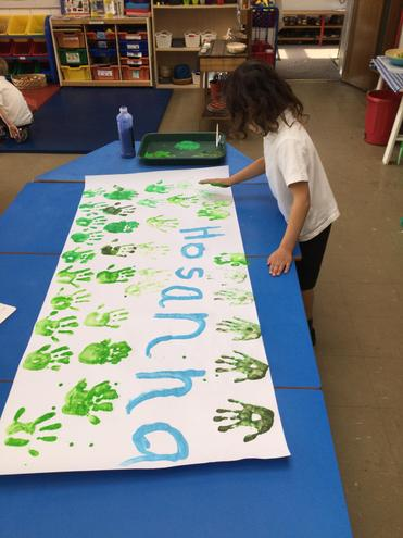 We have been learning about Palm Sunday.