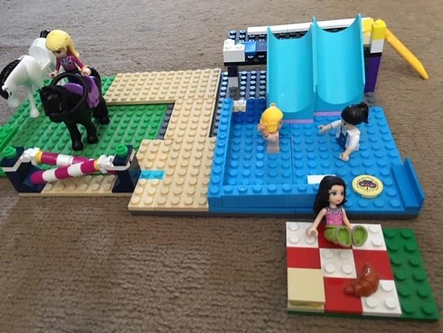 Isla's riding/swimming creation