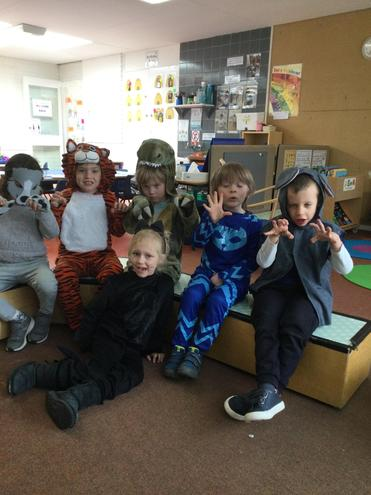 Here we are dressed up as our favourite pets.