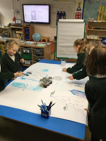 We have been creating winter pictures