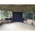 We are thrilled with our new outdoor classroom and can't wait to use it!