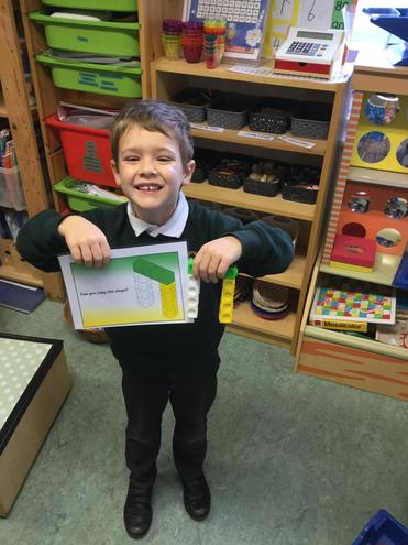 I have been making and matching shapes.