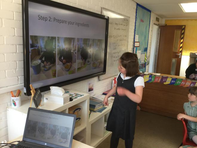 A presentation about making French Toast, yum yum!