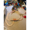 I am making trains 'move on' by pushing.