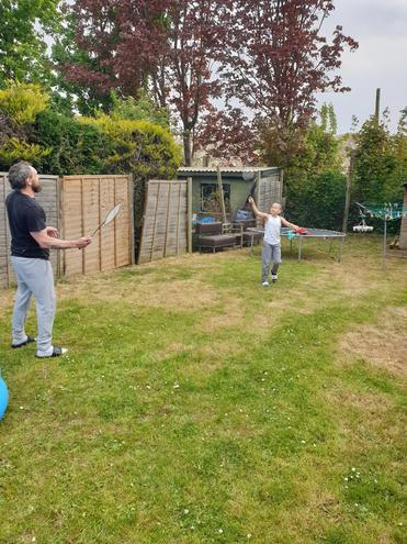 Badminton in the garden