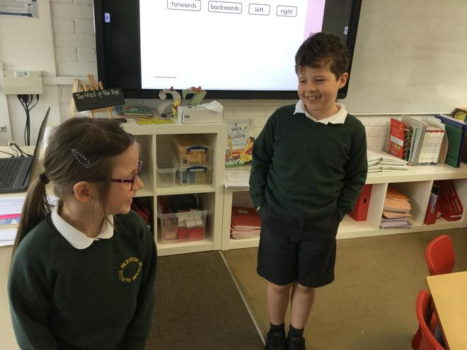 Using language to direct each other!