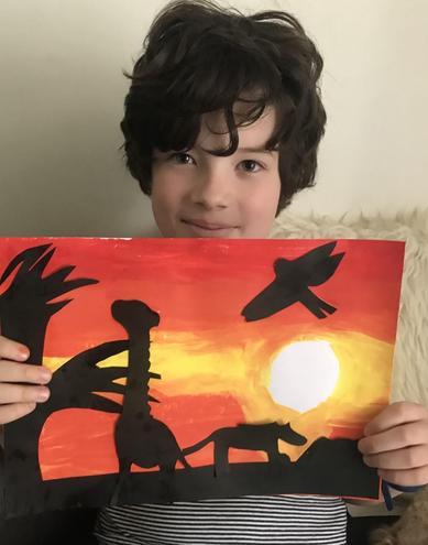 Louis' painted savannah sunset