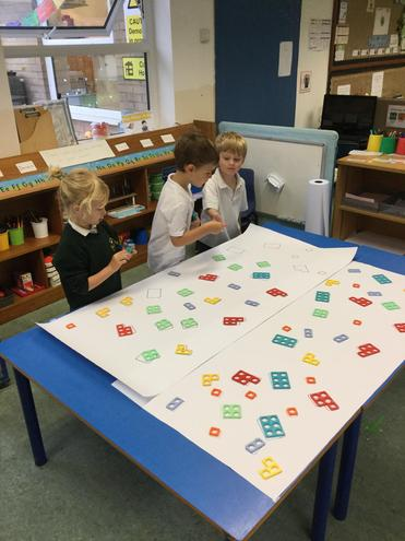 We are matching Numicon shapes.
