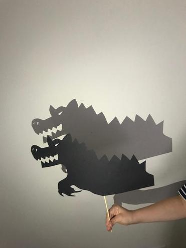 Check out Louis' awesome shadow puppets.
