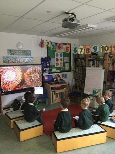 We watched a Diwali firework display.