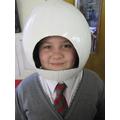 Dressing like an astronaut.