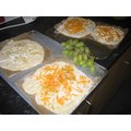 Roman pizzas ready for the oven