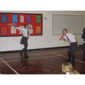 Performing a kite dance