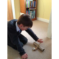 Thomas made a catapult