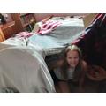 Rebecca's made a den!