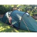 Emilia in a tent