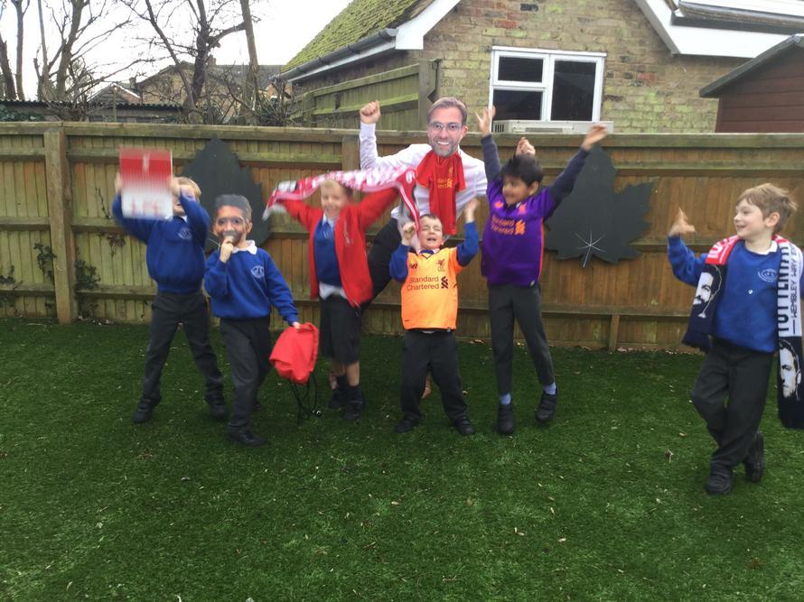 We had great fun cheering on Liverpool