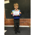 Luke got the most points this week in Apple Class - well done!