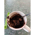 James made a delicious cake in a mug
