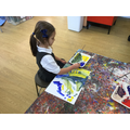 Colour mixing and painting