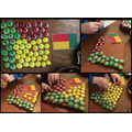 Make a flag from loose parts e.g. pasta, Lego, buttons