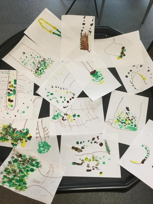 Just some of our lovely trees that we made