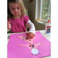 Use different coloured paper to make a prince or princess