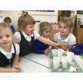 We completed an experiment to find out why the gingerbread man couldn't go in the river.