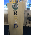 "Welcome to our ""Starbooks Cafe"" reading area"