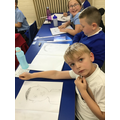 Practising sketching our self-portraits