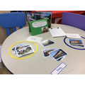We sorted the pictures of houses into old and new.