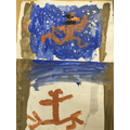 We painted scenes from the story.
