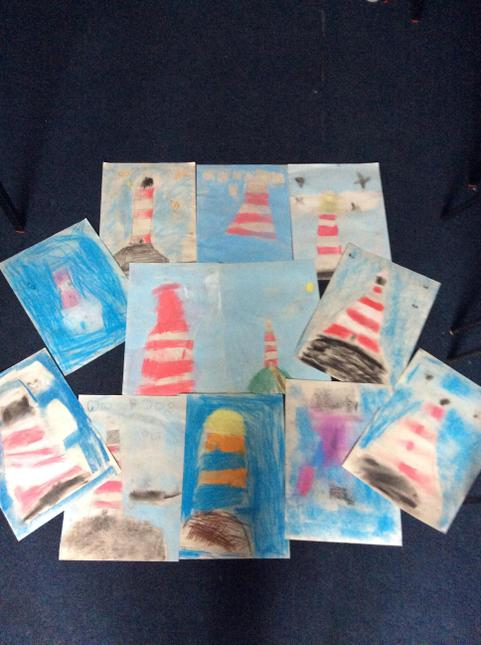 Pastel pictures of our lighthouses