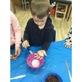 """""""We used a knife to spread the icing sugar."""""""