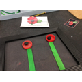 We made transient art poppies