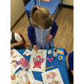 Exploring collaging and independently selecting the glue needed