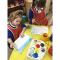 We mixed colours to paint pictures.