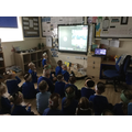 We video called F1 and the other F2 class for a Harvest celebration.